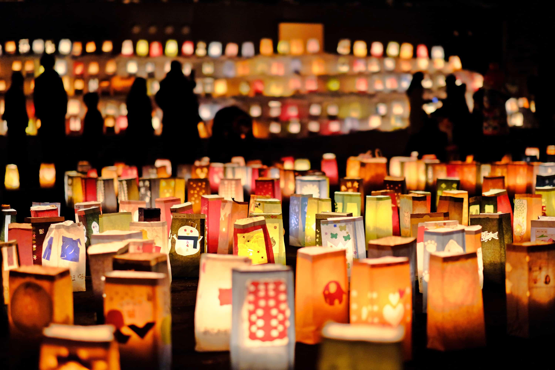 เทศกาลปล่อยโคม ญี่ปุ่น 2020 - เทศกาลโคมกระดาษทาคิคาวะ (Takikawa Lantern Festival)