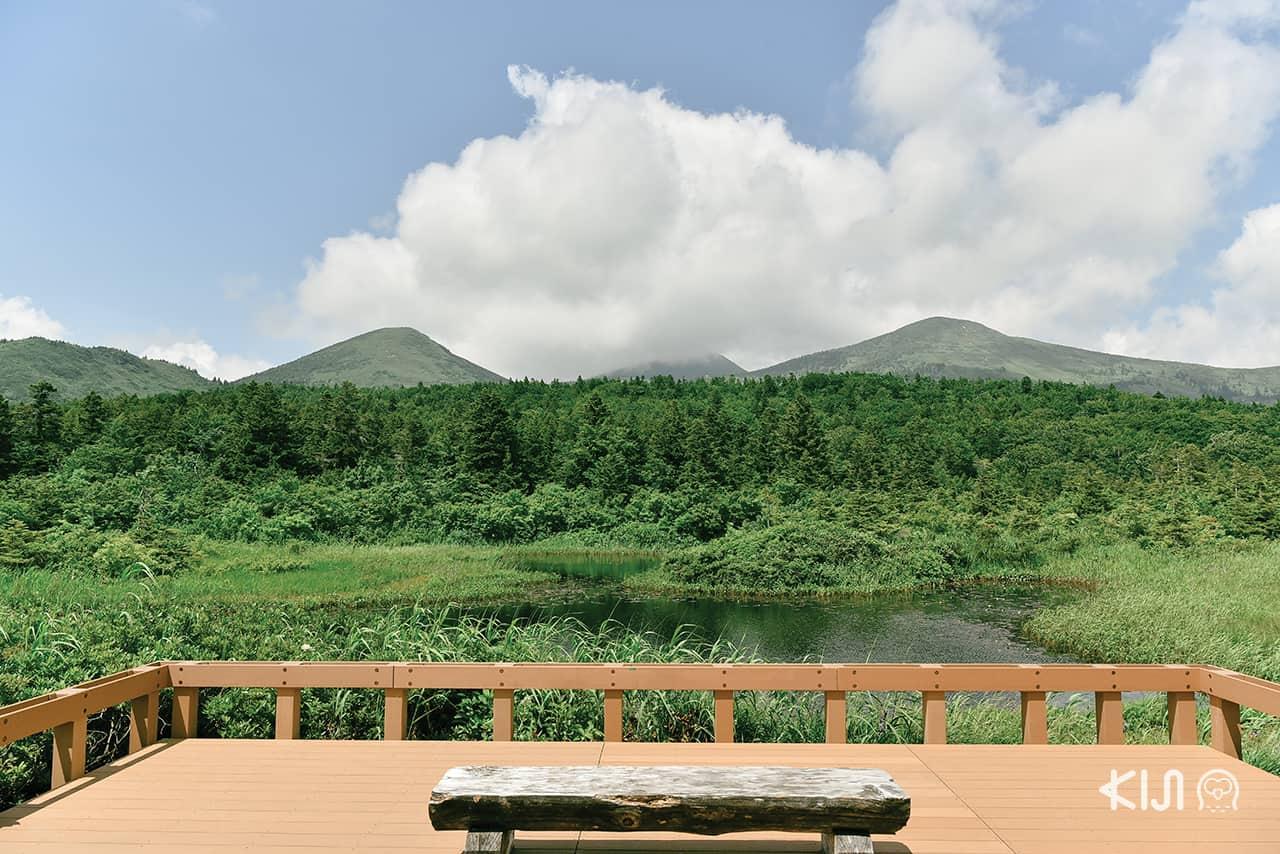 Suiren-numa Pond จุดชมวิวภูเขา Hakkoda แบบพาโนรามา