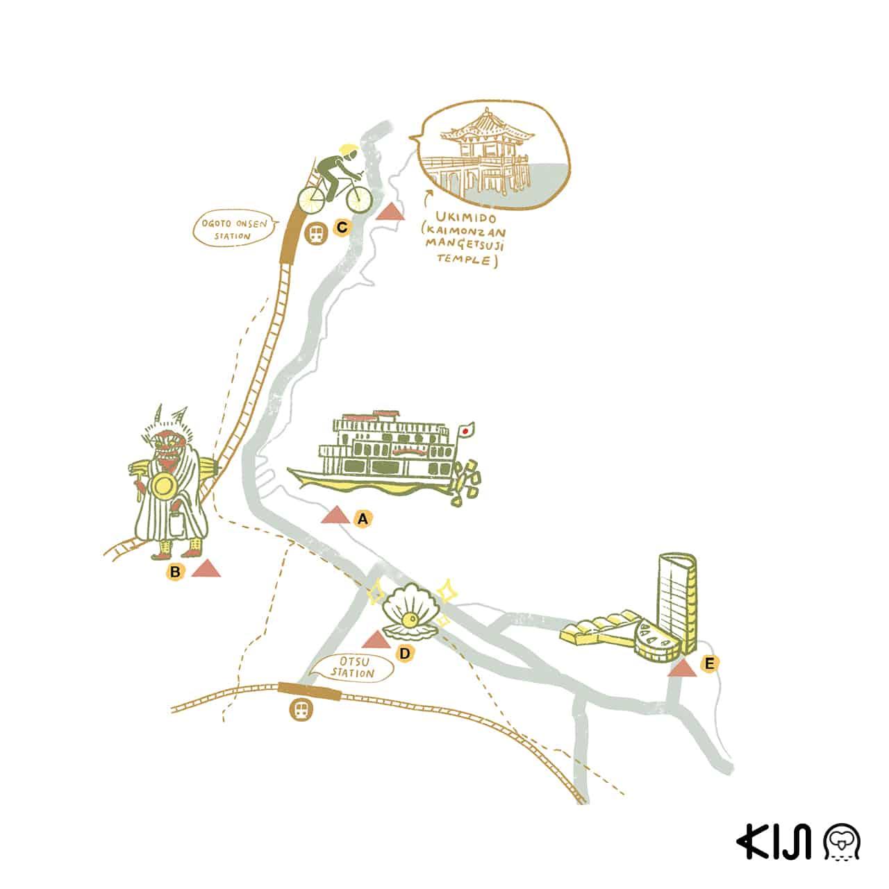 ที่เที่ยวเมืองโอตสึ (Otsu) Route 1