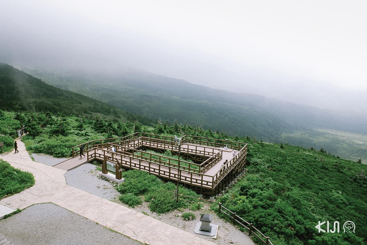 Summit Wood Deck จุดชมวิวภูเขา Mt.Hakkoda แบบพาโนรามา