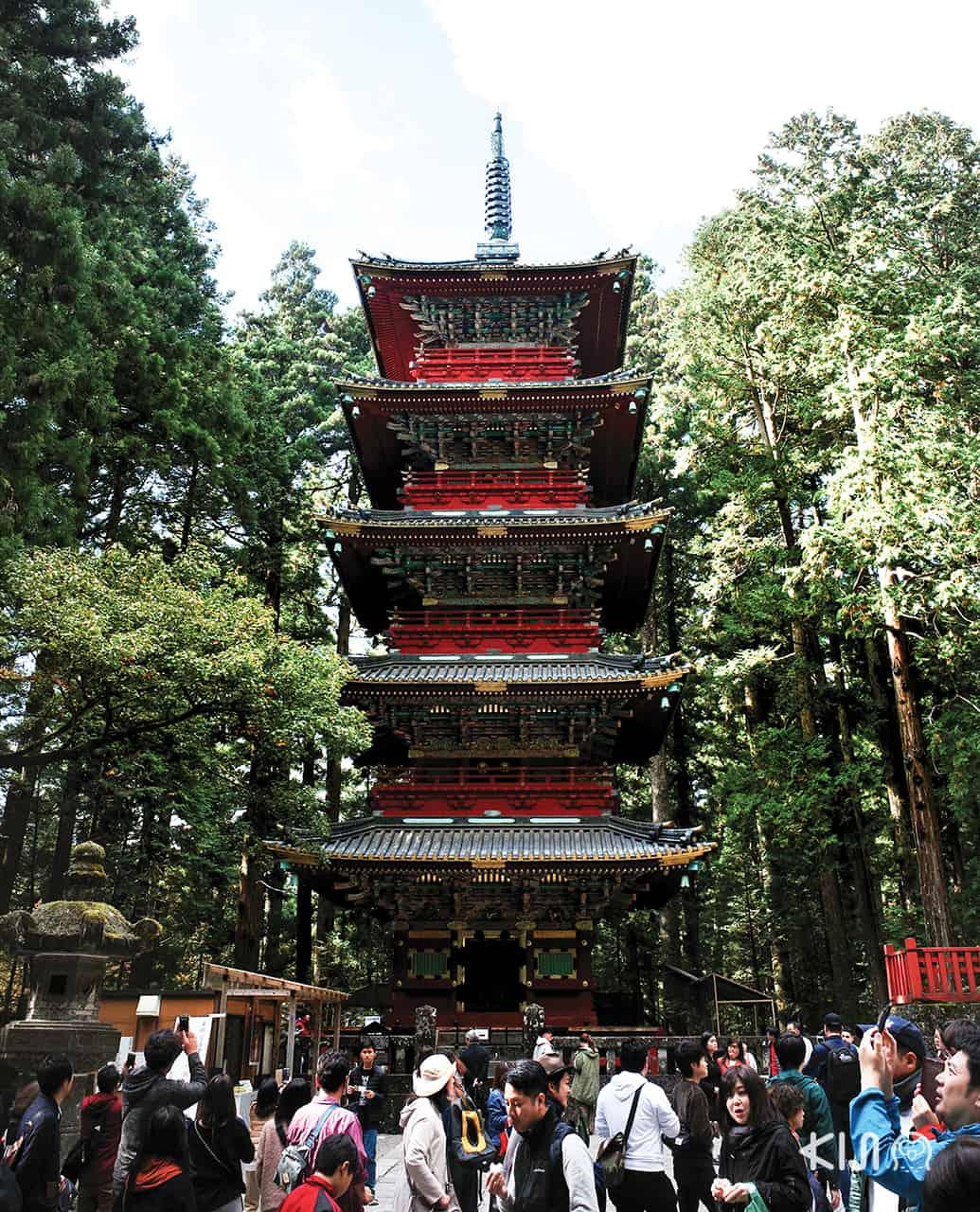 เจดีย์แดง 5 ชั้น (Five-Storied Pagoda) ที่ นิกโก้