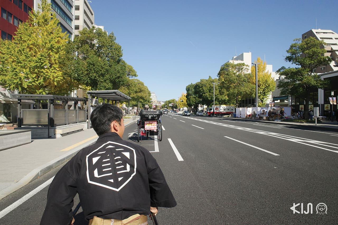 นั่งรถลากเที่ยวเมืองฮิเมจิ (Himeji)