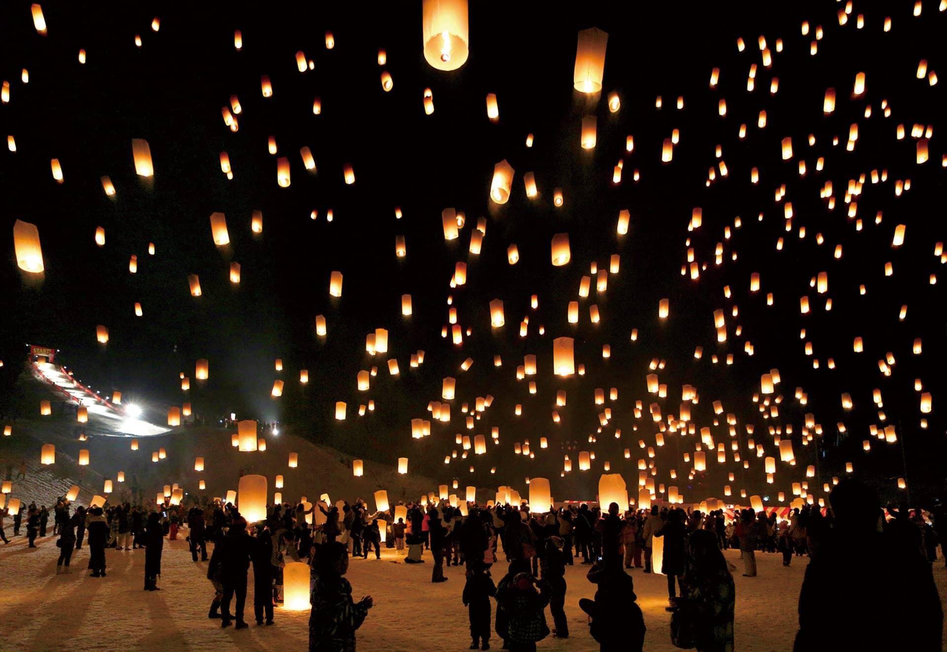 เทศกาลปล่อยโคม ญี่ปุ่น 2020 - เทศกาลหิมะซึนัน (Tsunan Snow Festival)