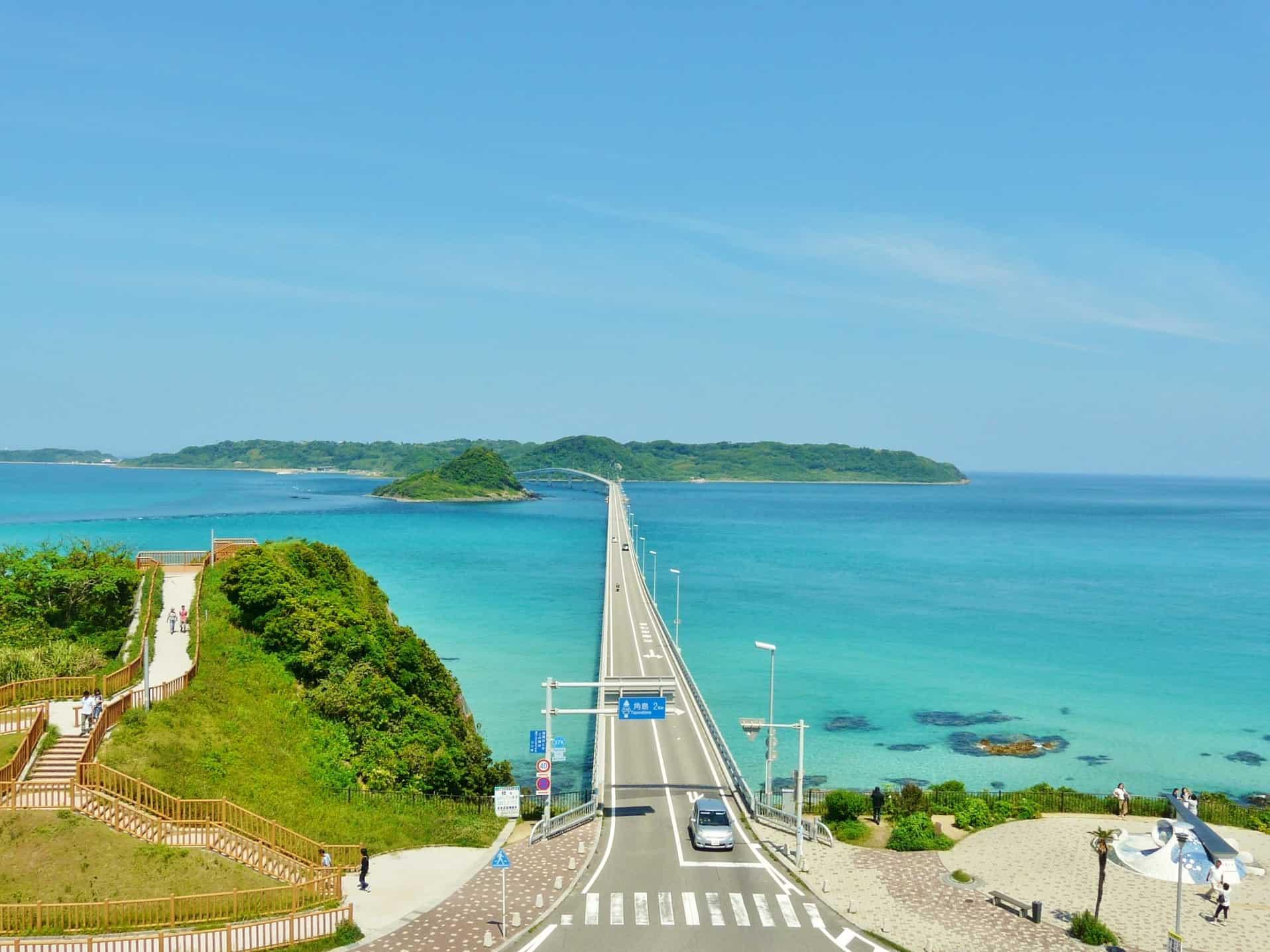 จุดถ่ายรูป ยามากุจิ (Yamaguchi) - สะพานซึโนชิมะ (Tsunoshima Bridge)