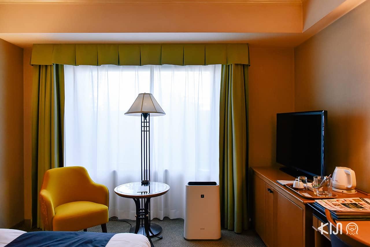 ภายในห้องพักมีเครื่องฟอกอากาศให้ทุกห้อง ของโรงแรม Hotel Metropolitan Morioka