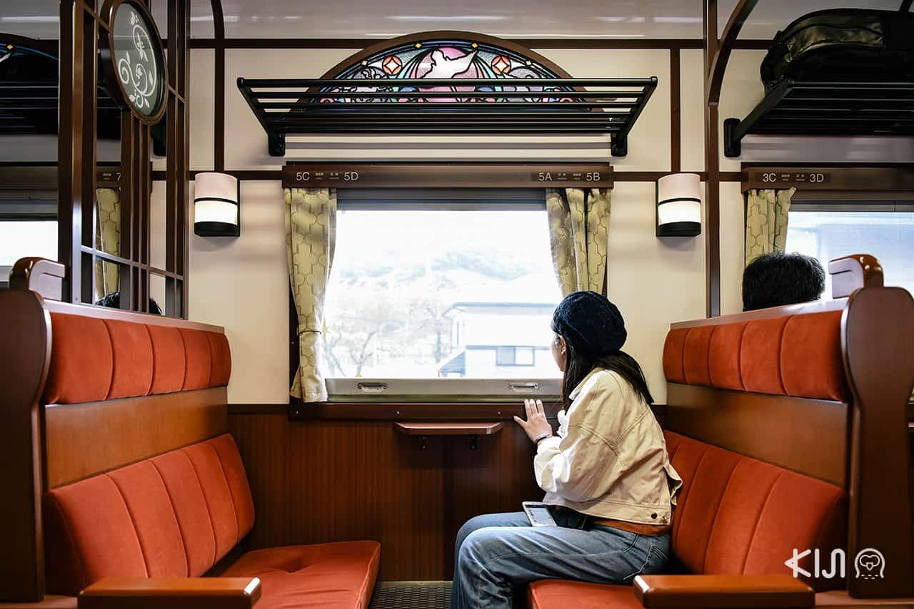 ที่นั่งภายในรถไฟ SL GINGA อิวาเตะ