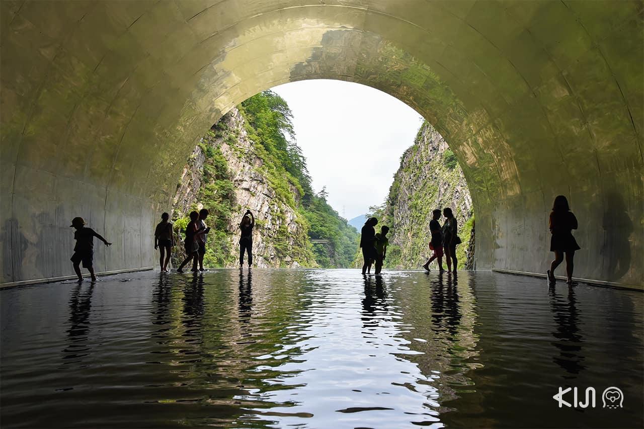 "Echigo-Tsumari Art Field - Tunnel of Light แพลตฟอร์ม 4 ""Light Cave"" (น้ำ)"