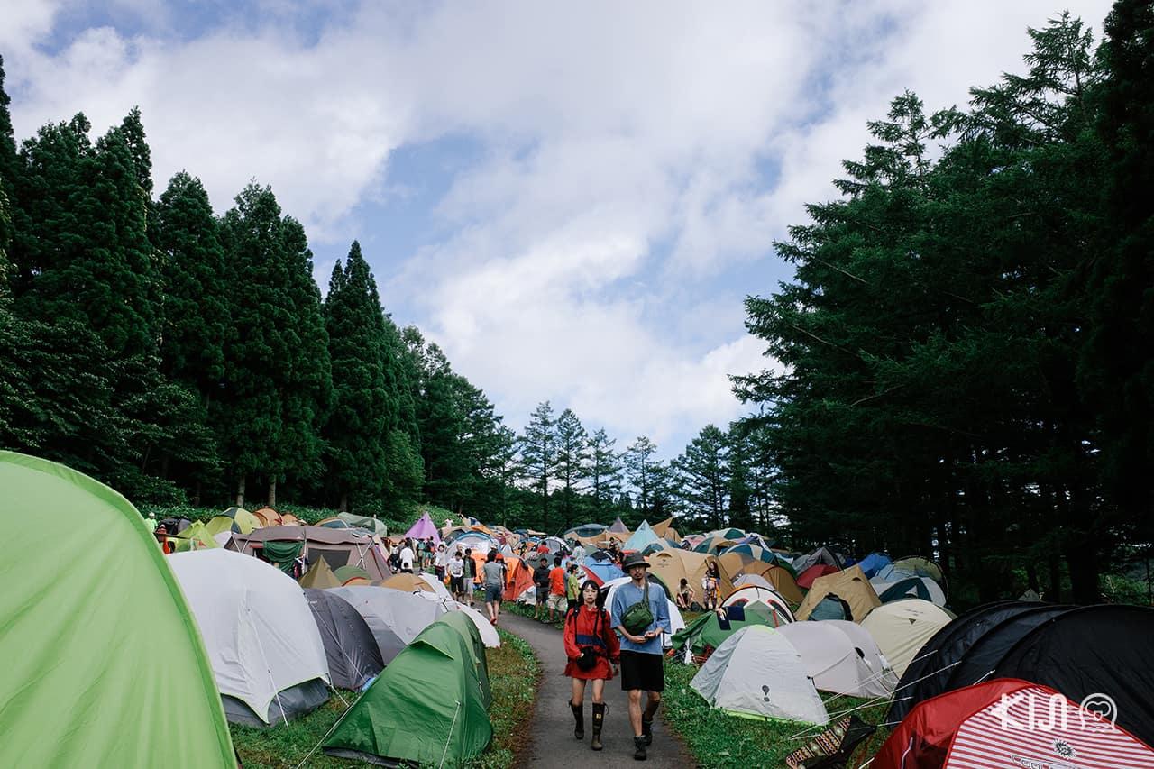 บรรยากาศโซนพักผ่อนที่ Fuji Rock Festival 2019