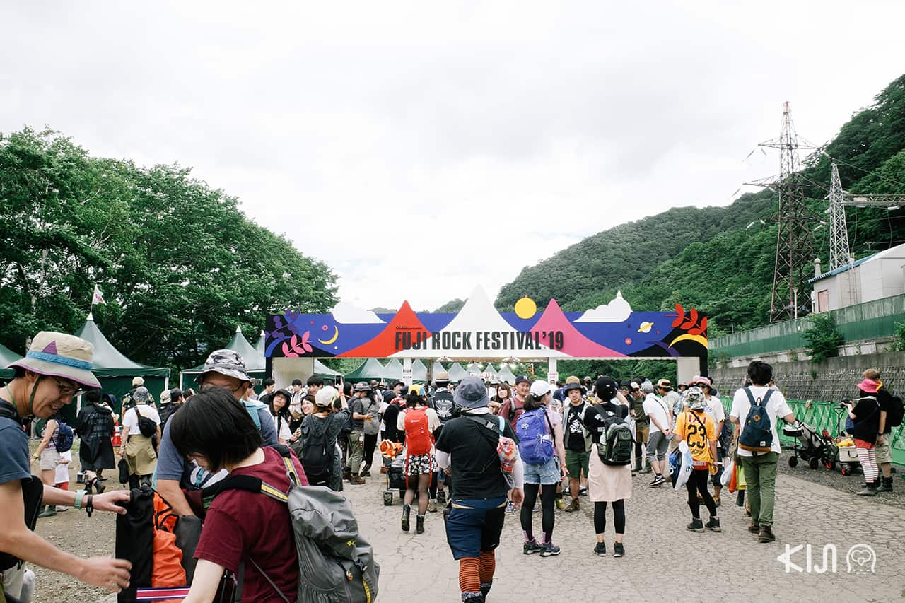 ทางเข้างาน Fuji Rock Festival 2019