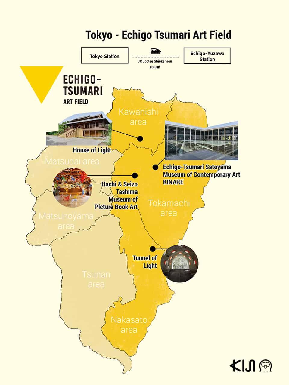 Echigo-Tsumari Art Field map
