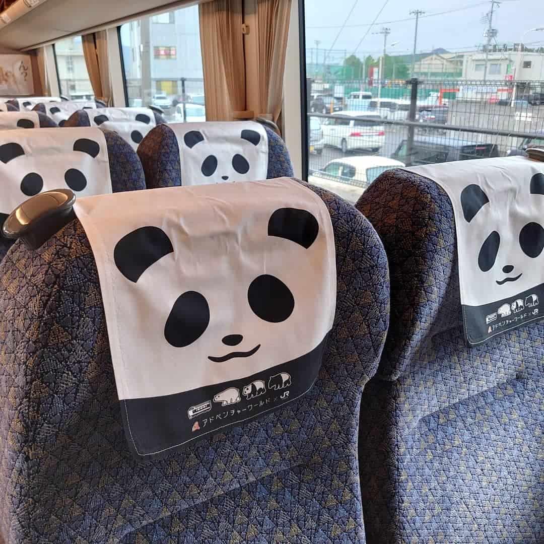 ภายใน Panda Kuroshio Train ก็ล้วนถูกตกแต่งด้วยแพนด้า