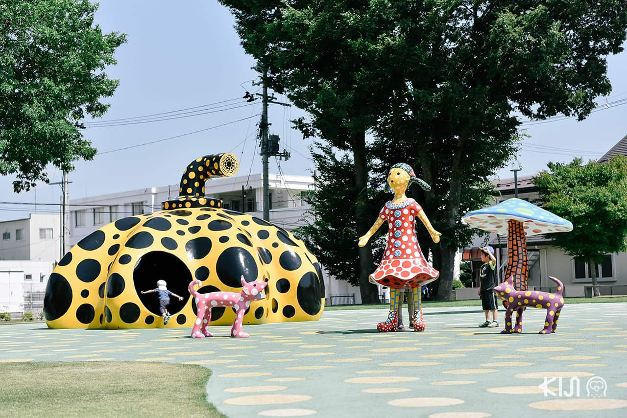 Love Forever, Singing in Towada (Yayoi Kusama) จัดแสดงที่ Towada Art Center