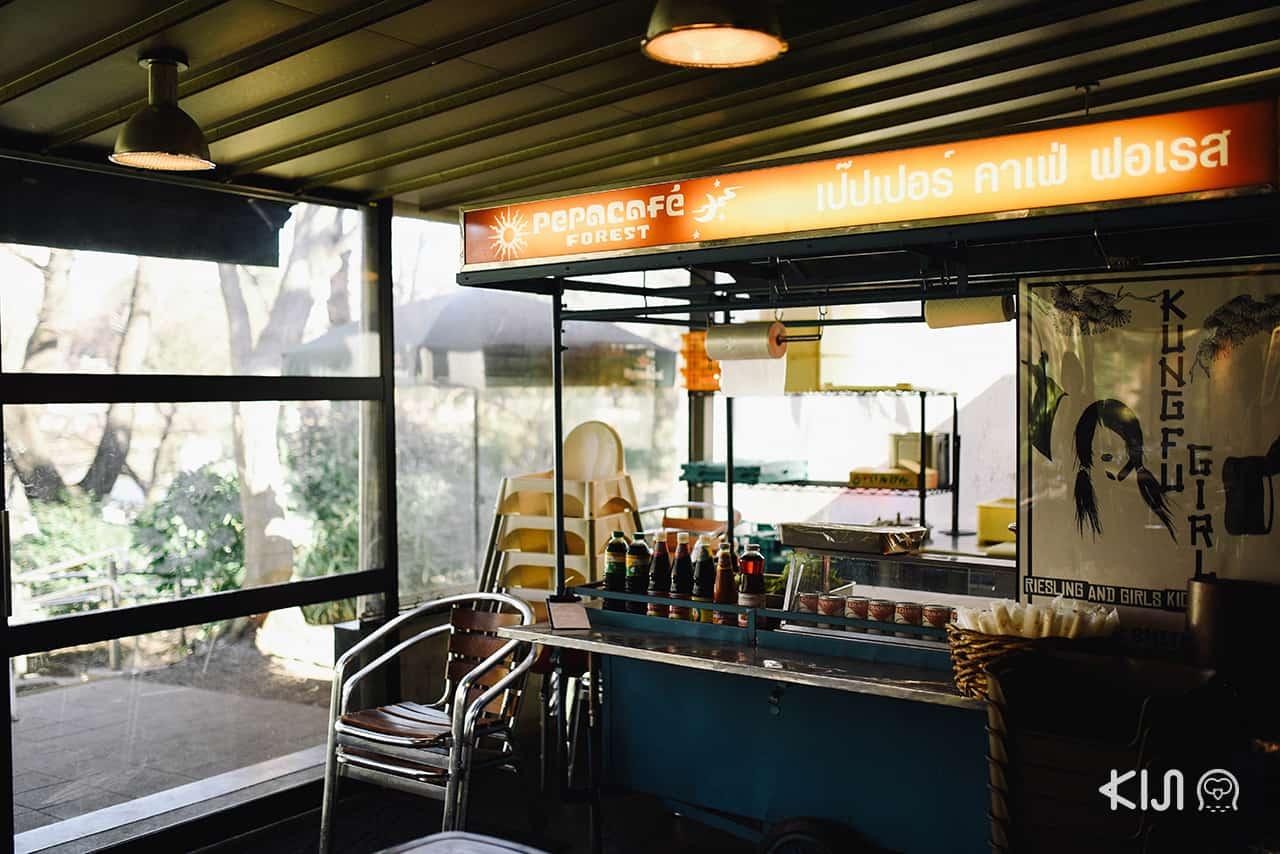 บรรยากาศร้าน Pepa Cafe Forest ที่ตกแต่งแบบไทยๆ