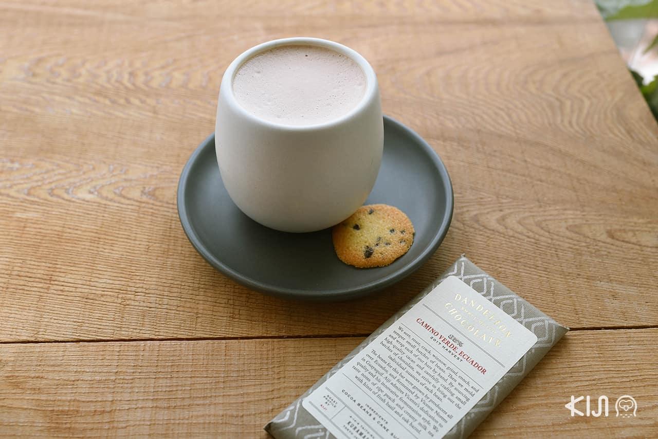 Kamakura Hot Chocolate เมนูที่มีเฉพาะสาขา Dandelion Chocolate Kamakura