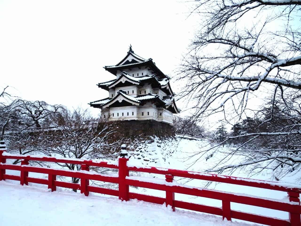 ปราสาทฮิโรซากิ Hirosaki Castle ฮิโรซากิ อาโอโมริ