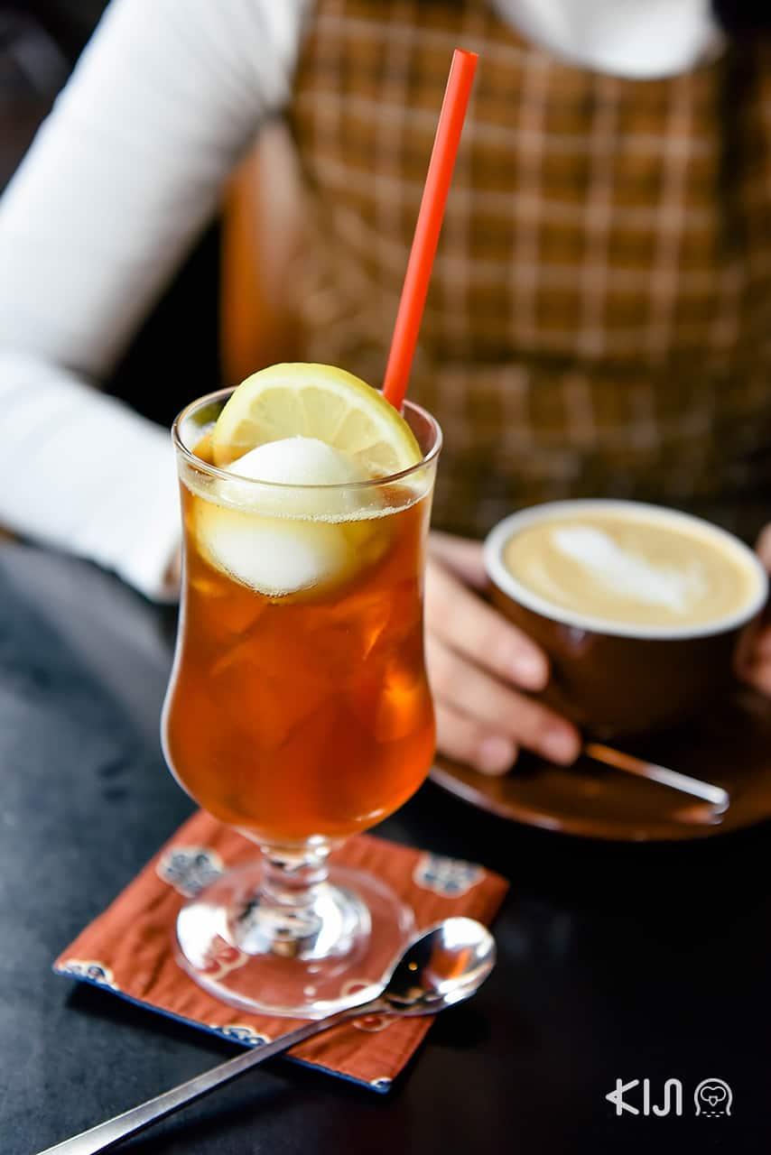 Lemon Tea Soda เครื่องดื่มเฉพาะฤดูใบไม้ผลิของร้าน Kayaba Coffee