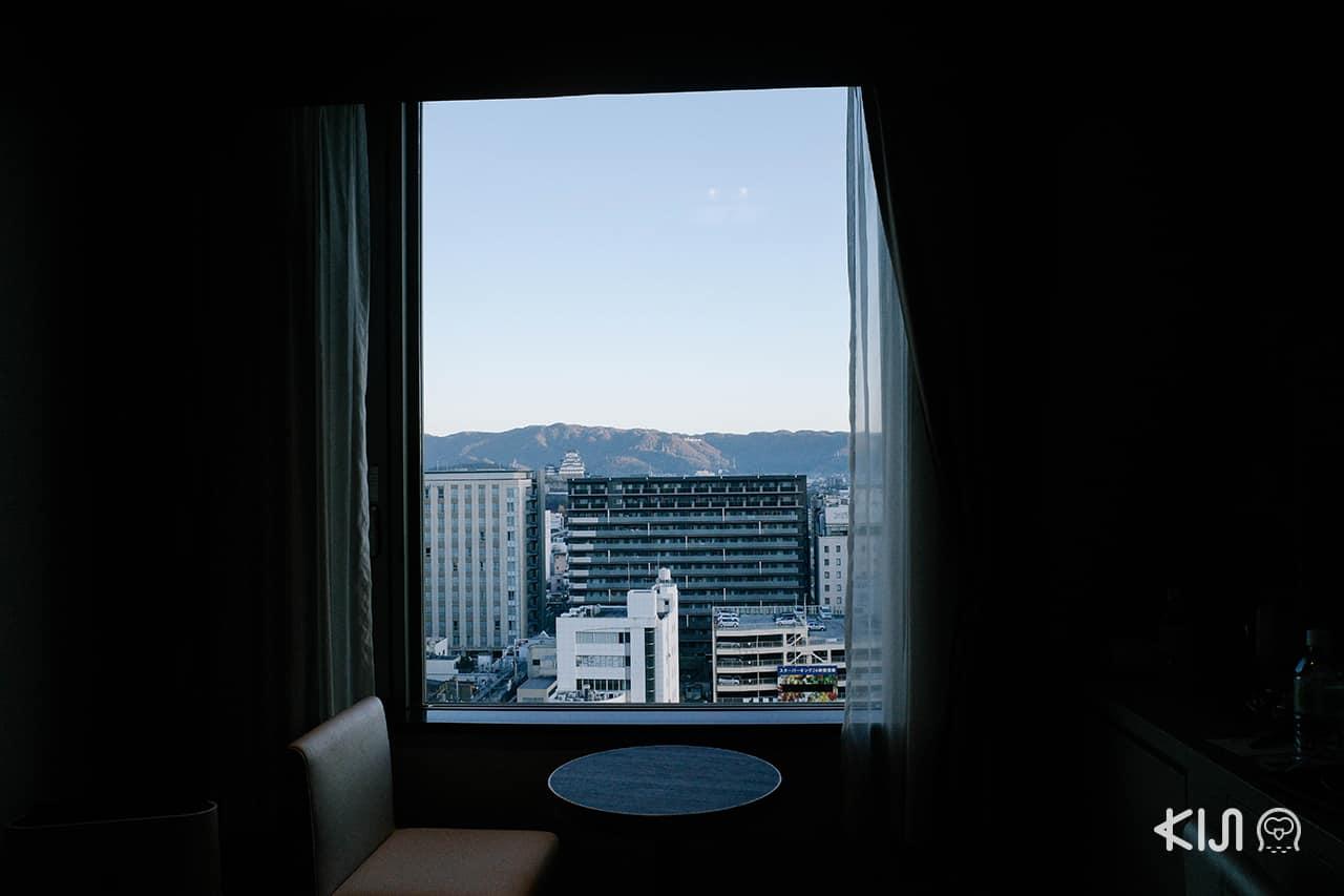 วิวปราสาท ฮิเมจิ เมื่อมองจากโรงแรม Hotel Monterey Himeji