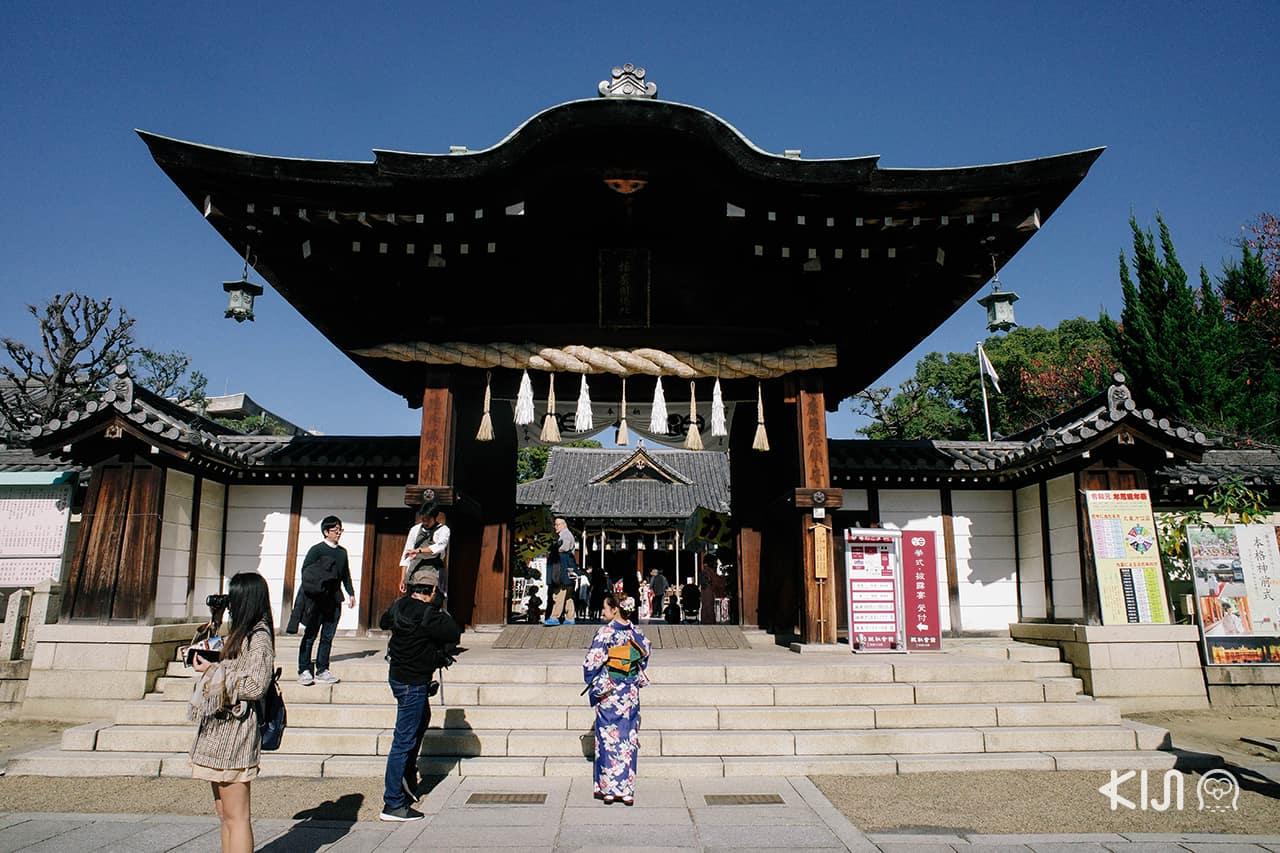 Itatehyozu Shrine ศาลเจ้าขึ้นชื่อเรื่องพรความรักในเมือง ฮิเมจิ
