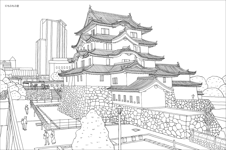 ปราสาทอามากาซากิ (Amagasaki Castle) ที่เดินทางไปได้โดยรถไฟ Hanshin Railways