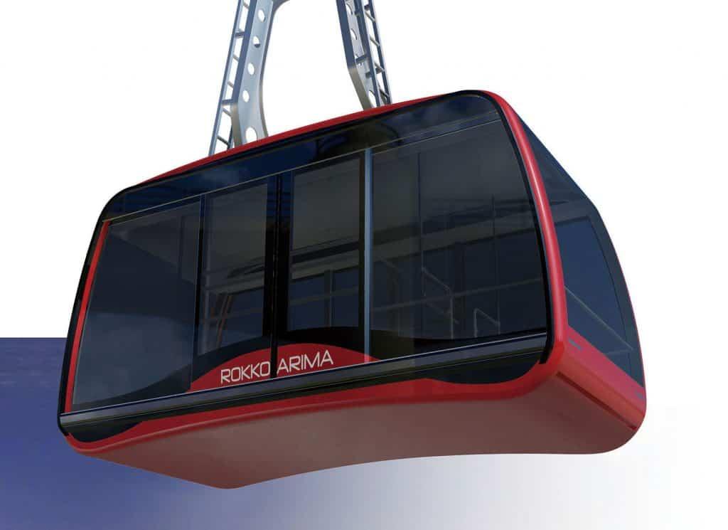โฉมหน้ากระเช้าไฟฟ้าเครื่องใหม่ Rokko Arima Ropeway