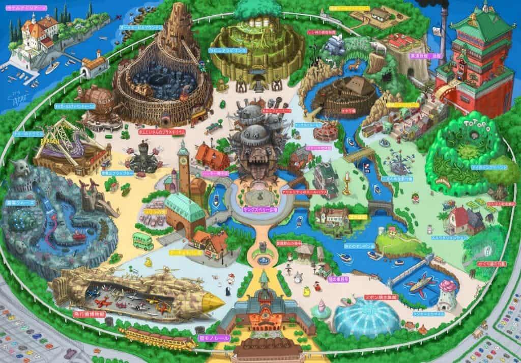 ภาพร่าง สวนสนุกสตูดิโอจิบลิ แห่งแรกในญี่ปุ่น