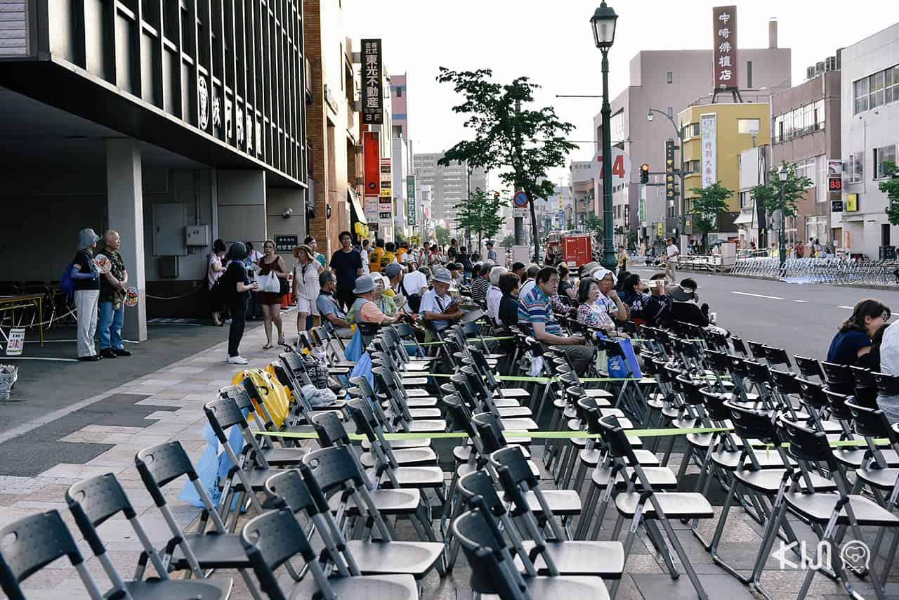 จุดนั่งชมงานเทศกาลฤดูร้อนเนบูตะมัตสึริ (Nebuta Matsuri)