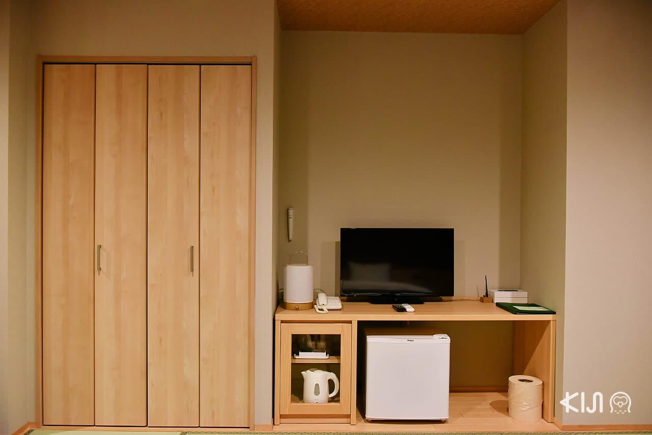 สิ่งอำนวยความสะดวกต่างๆ ภายในห้องพักของโรงแรม Hakone Kowakien Miyamafurin