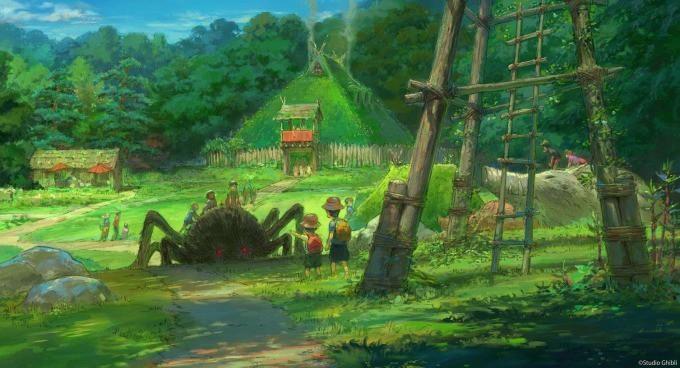 โซน Mononoke's Village ด้านใน สวนสนุกสตูดิโอจิบลิ