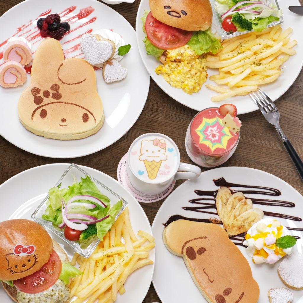 เมนูคาวหวานหลากหลายจำหน่ายใน Sanrio Cafe