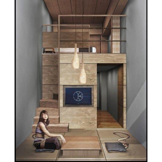 ONSEN RYOKAN Yuen Sapporo : ห้องพักแบบ Maisonette-Double Room