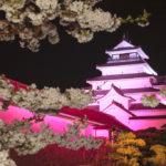 Tsuruga Castle Sakura Night (©Fukushima Prefecture)