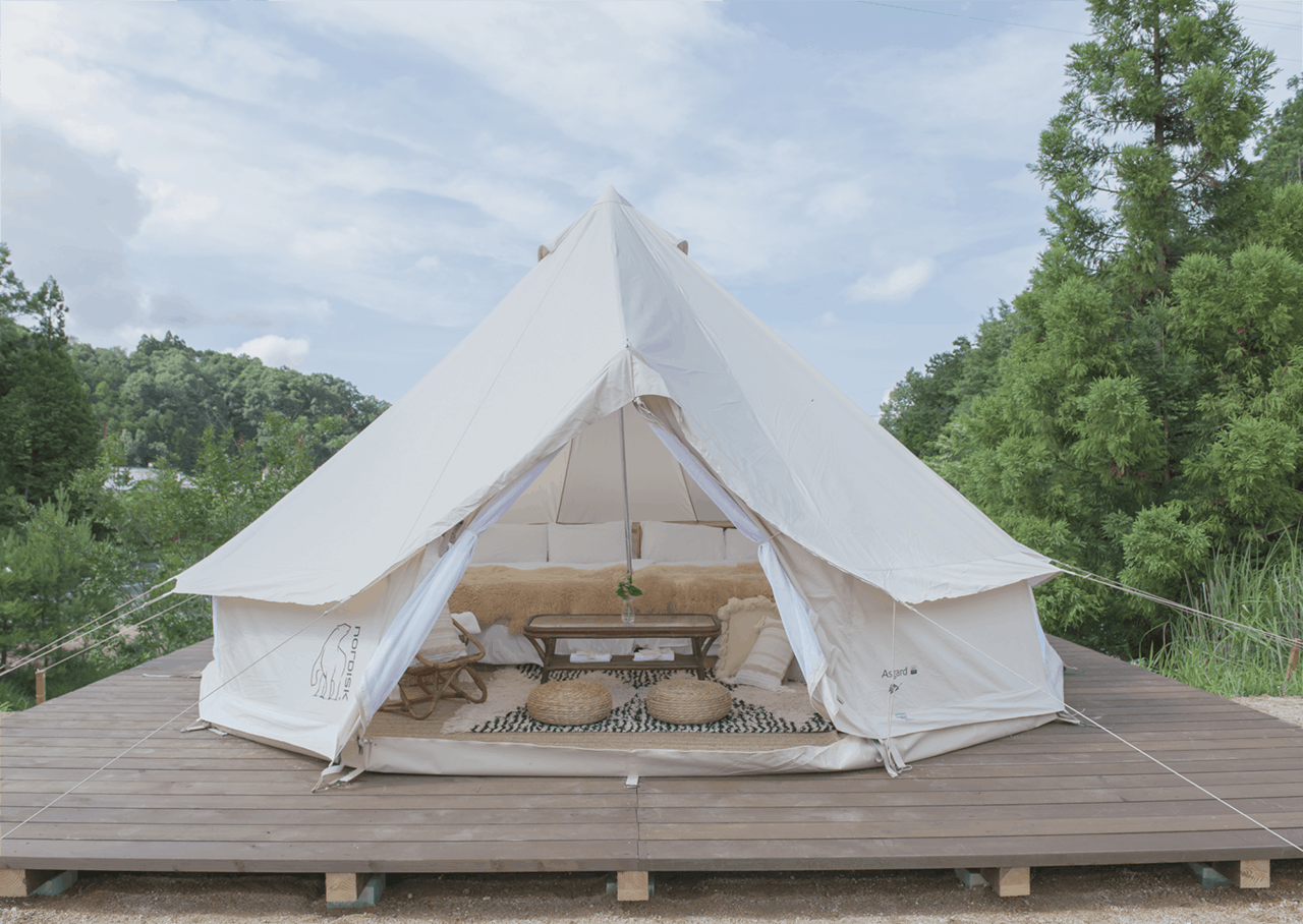 Ongaku no Mori : Vista Deck tent เต็นท์บนเนินเขา