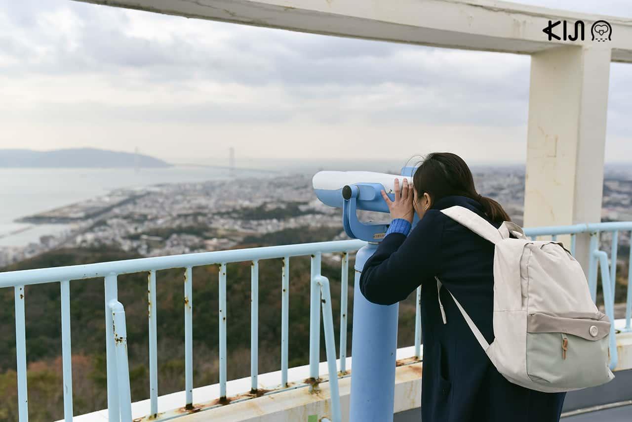 สามารถชมวิวเมืองโกเบได้จาก Sumaura Sanjo Yuen Park