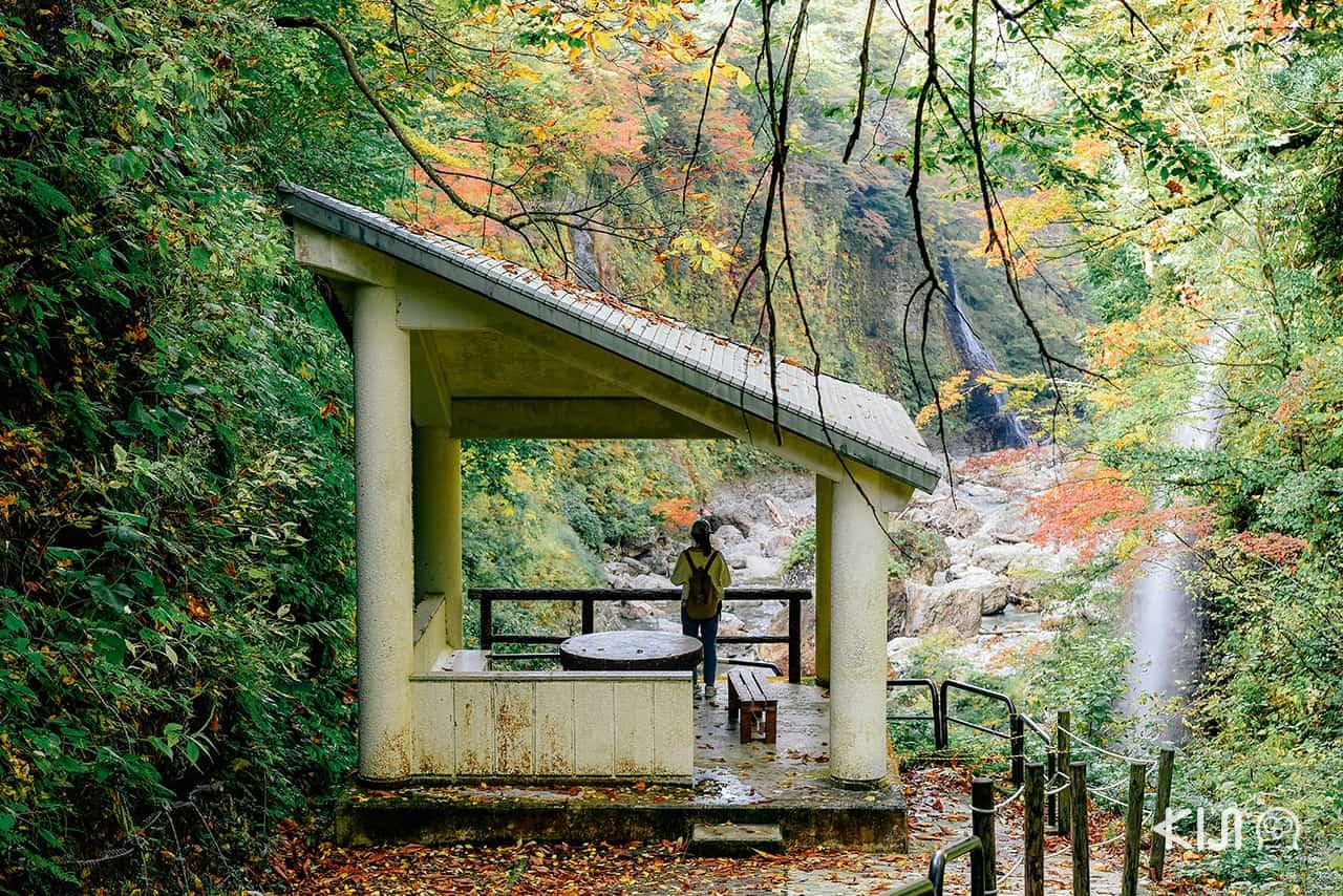 น้ำตกฟุโด (Fudou Waterfall) ในหุบเขาโอยาสุ (Oyasu Valley)