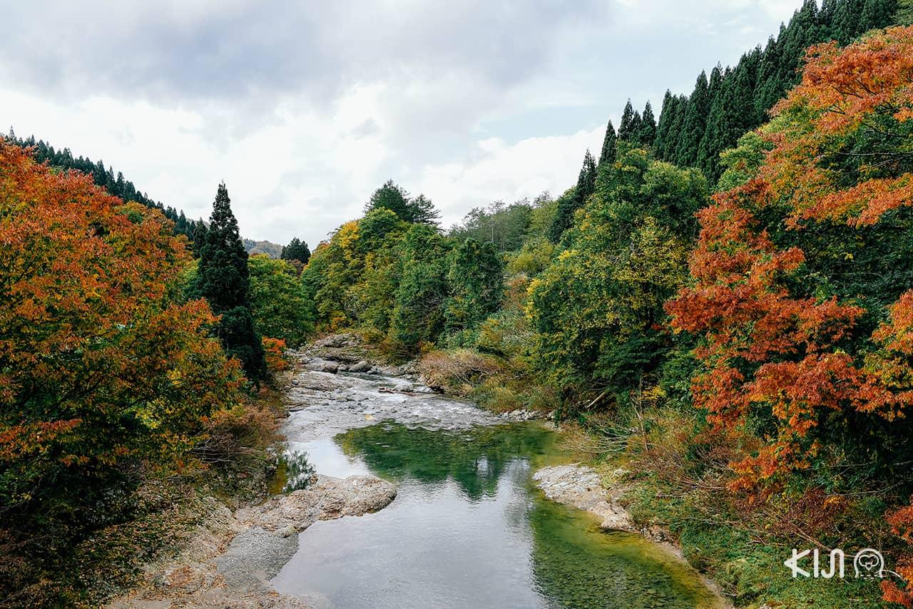 หุบเขาโอยาสุ (Oyasu Valley) จังหวัดอาคิตะ