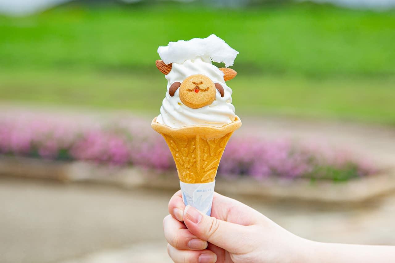 เมนูของหวานภายใน Yokosuka Soleil Hill - ไอศกรีมรูปอัลปาก้าสุดน่ารัก