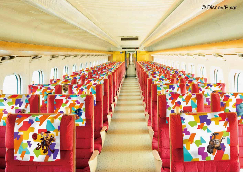 ภายในขบวนรถไฟ JR Kyushu ธีม Toy Story