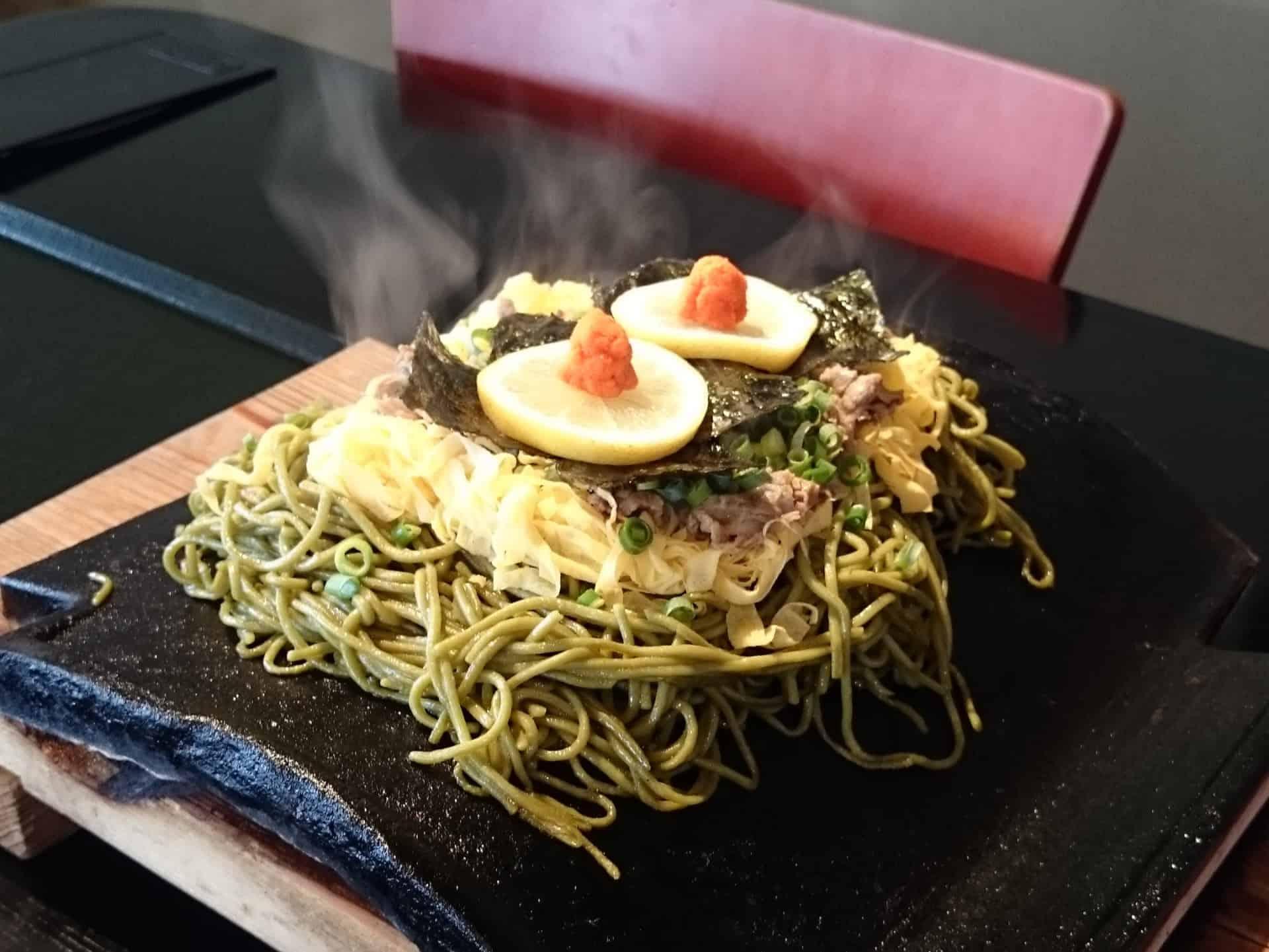 อาหารโลคอล จ.ยามากุจิ - คาวาระโซบะ (Kawara Soba)