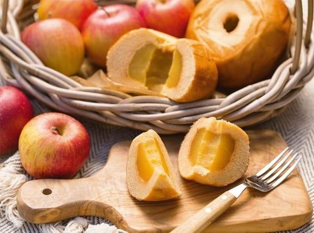 ขนมเค้กไส้หอมหวานจากแอปเปิ้ล