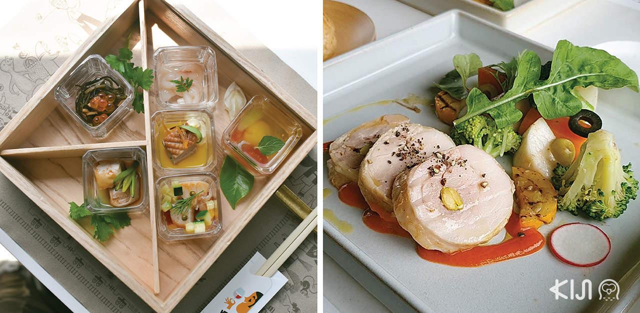 เมนูอาหารที่บริการบนรถไฟขบวน Tohoku Emotion