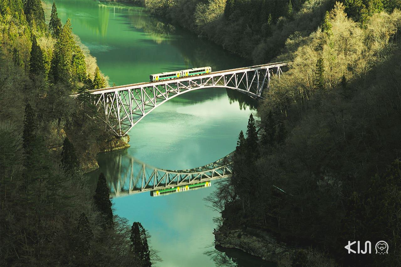 จุดชมวิว จ.ฟุกุชิมะ - Tadami River Bridge Viewpoint
