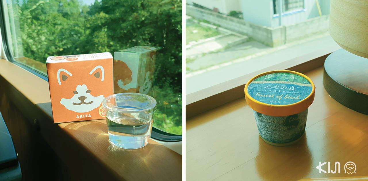 ของอร่อยบนรถไฟขบวน Resort Shirakami