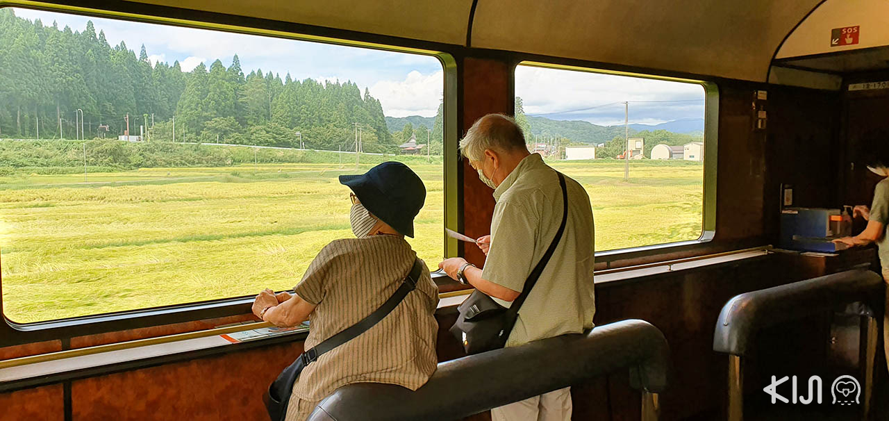 วิวระหว่างทางบนขบวนรถไฟ SL Banetsu Monogatari