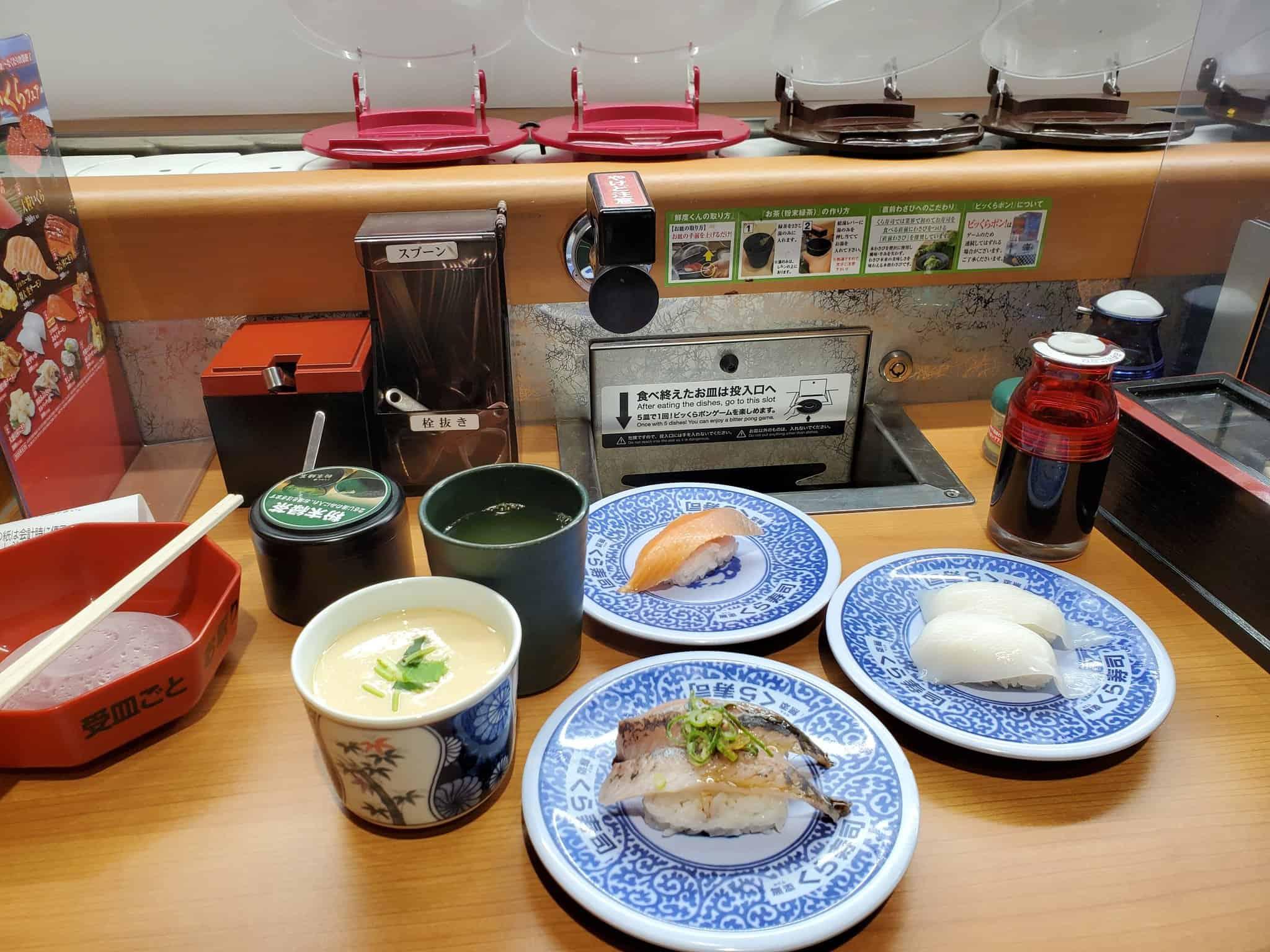 คุระซูชิ (Kura Sushi) เชน ซูชิสายพาน จากจ.โอซาก้า