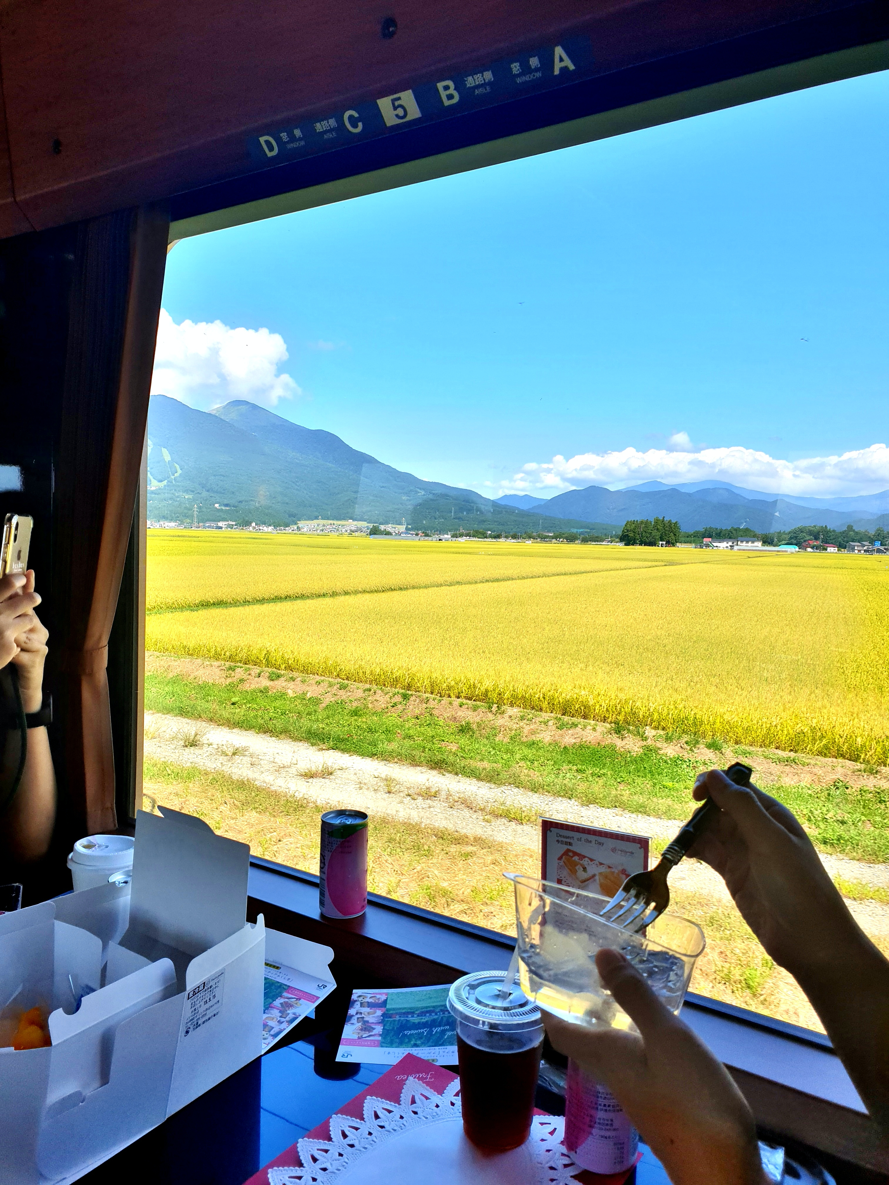 วิวธรรมชาติระหว่างทางบนรถไฟ Fruitea Fukushima