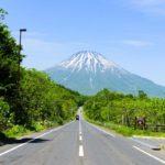 mountain yotei-idyllic roadside view-hokkaido-japan