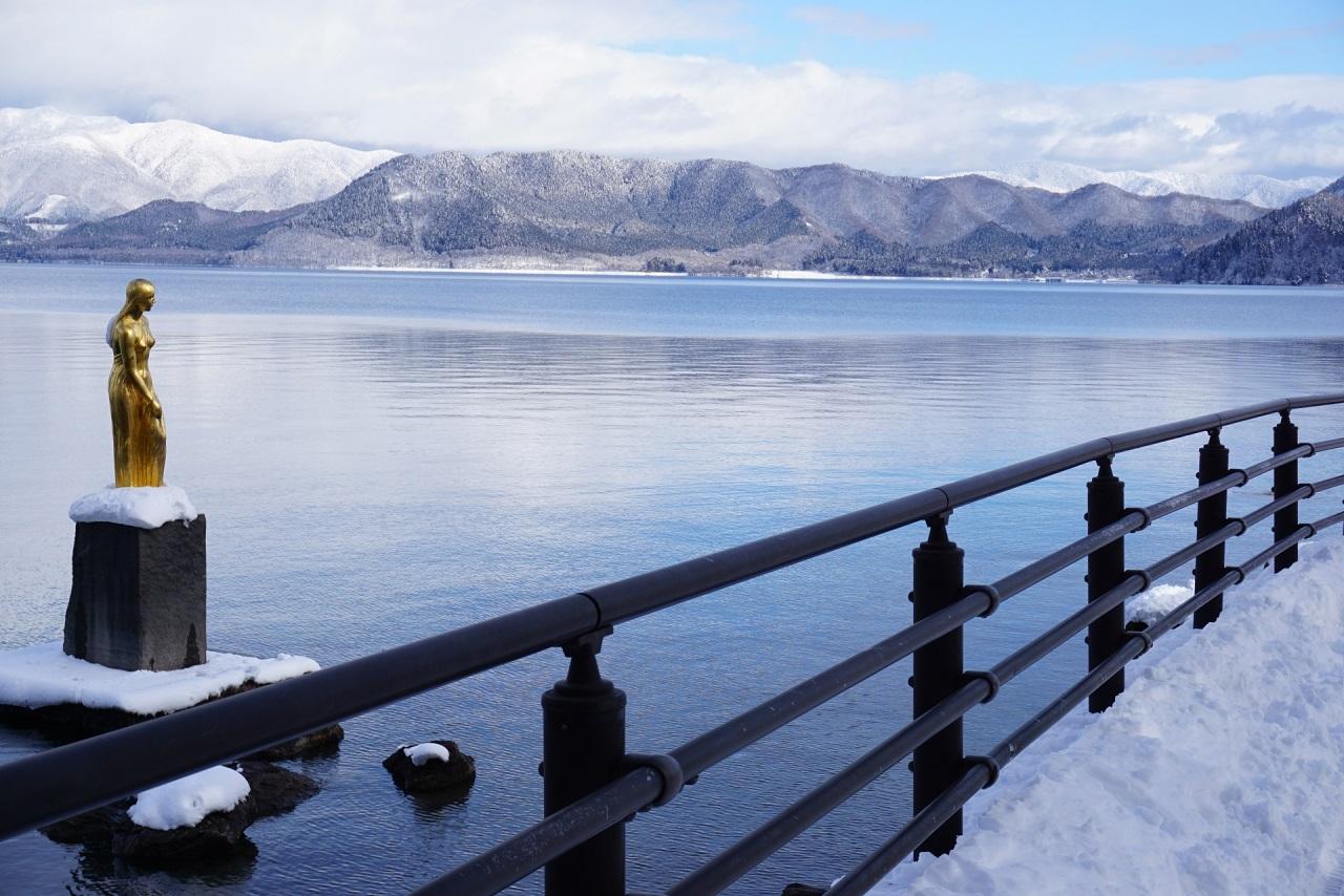 เที่ยว Lake Tazawa ใน ฤดูหนาว โดย JR East Pass โทโฮคุ