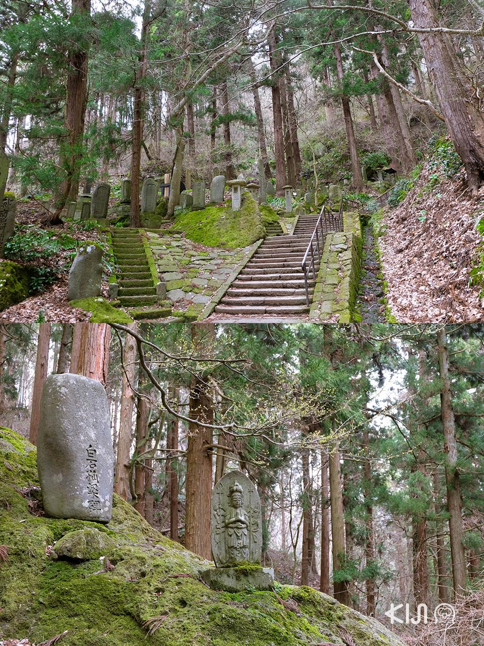 เที่ยวยามากาตะ (โยเนซาวะ และ ยามาเดระ) : ทางเดินไปวัดยามาเดระ (Yamadera Temple)