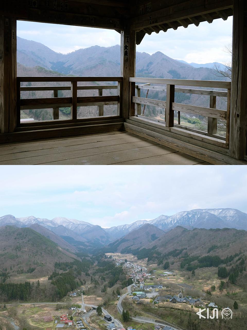 เที่ยวยามากาตะ (โยเนซาวะ และ ยามาเดระ) : จุดชมวิวของ วัดยามาเดระ (Yamadera Temple)