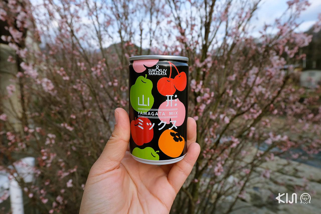 เที่ยวยามากาตะ (โยเนซาวะ และ ยามาเดระ) : เครื่องดื่มจากผลไม้ท้องถิ่นจ.ยามากาตะ